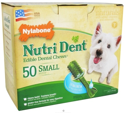 DROPPED: Nylabone - Nutri Dent Edible Dental Chews Small Extra Fresh - 50 Chew(s) CLEARANCE PRICED