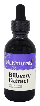 NuNaturals - Pure Liquid Bilberry - 2 oz.