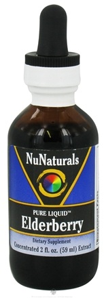 DROPPED: NuNaturals - Pure Liquid Elderberry - 2 oz. CLEARANCE PRICED