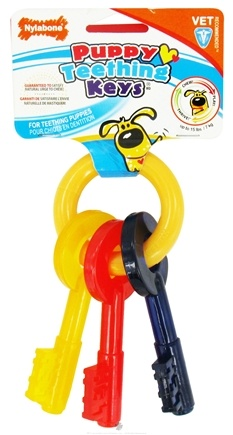 DROPPED: Nylabone - Puppy Teething Keys For Puppies Up To 15 lbs. - CLEARANCE PRICED