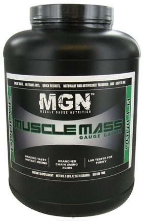 DROPPED: Muscle Gauge Nutrition - Muscle Mass Gauge Gainer Vanilla - 5 lbs. CLEARANCE PRICED