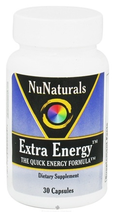 DROPPED: NuNaturals - Extra Energy Quick Energy Formula - 30 Capsules CLEARANCE PRICED