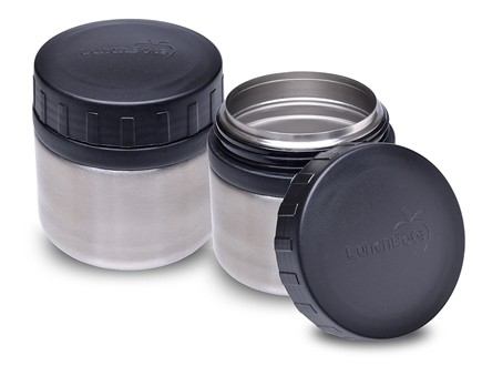 DROPPED: LunchBots - Rounds Stainless Steel Watertight Food Container Set Black