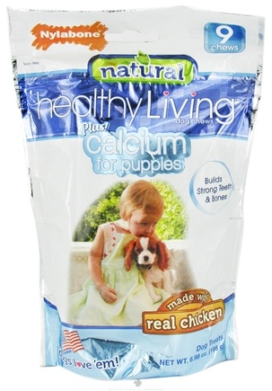DROPPED: Nylabone - Healthy Living For Puppies Plus Calcium - 9 Chew(s) CLEARANCE PRICED