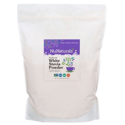 NuNaturals - NuStevia White Stevia Powder - 5 lbs.
