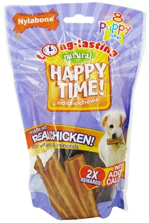 DROPPED: Nylabone - Happy Time! Edible Chews Puppy - 8 Chew(s) CLEARANCE PRICED