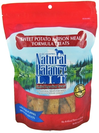 DROPPED: Natural Balance Pet Foods - L.I.T. Limited Ingredient Treats For Dogs Sweet Potato & Bison Meal - 14 oz. CLEARANCE PRICED