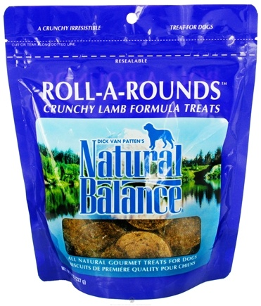 DROPPED: Natural Balance Pet Foods - Roll A Rounds Crunchy Baked Treats For Dogs Lamb Formula - 8 oz.