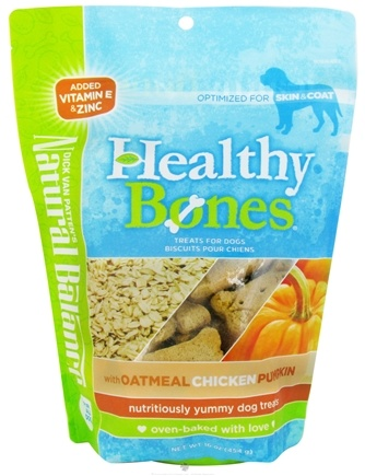 DROPPED: Natural Balance Pet Foods - Healthy Bones Dog Treats Oatmeal, Chicken, Pumpkin - 16 oz. CLEARANCE PRICED