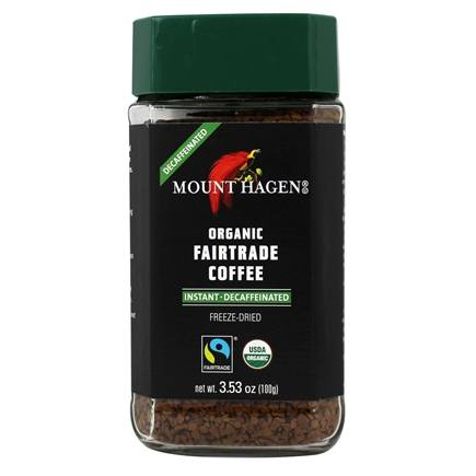 Mount Hagen - Organic Instant Coffee Freeze Dried Decaffeinated - 3.53 oz.