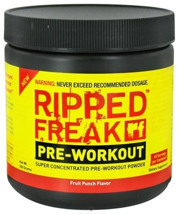 DROPPED: PharmaFreak Technologies - Ripped Freak Pre-Workout Fruit Punch Flavor - 200 Grams CLEARANCE PRICED