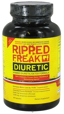 DROPPED: PharmaFreak Technologies - Ripped Freak Diuretic - 48 Capsules CLEARANCE PRICED