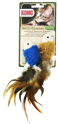 DROPPED: Kong - Naturals Crinkle Fish With Feathers Cat Toy - CLEARANCE PRICED