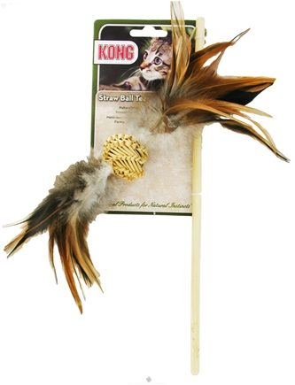 DROPPED: Kong - Naturals Straw Ball Teaser Cat Toy - CLEARANCE PRICED