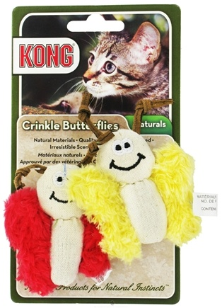 DROPPED: Kong - Naturals Crinkle Butterflies Cat Toy - CLEARANCE PRICED
