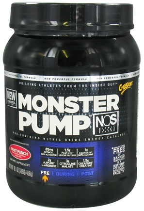 DROPPED: Cytosport - Monster Pump Pre-Training Nitric Oxide Energy Catalyst Fruit Punch - 16.1 oz. CLEARANCE PRICED