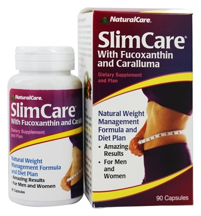 Natural Balance - SlimCare with Fucoxanthin and Caralluma - 90 Capsules Contains Brown Seaweed