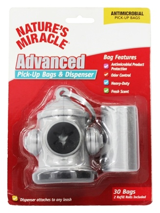 DROPPED: Nature's Miracle - Advanced Pick-Up Bags & Hydrant Dispenser - 30 Bags