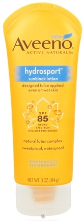 DROPPED: Aveeno - Active Naturals Sunblock Lotion Hydrosport 85 SPF - 3 oz. CLEARANCE PRICED