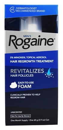 Rogaine - Men's Hair Regrowth Treatment Foam Unscented One Month Supply - 2.11 oz.