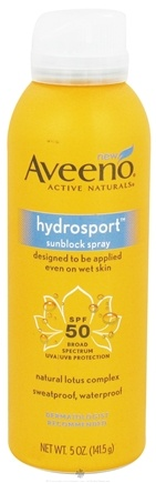 DROPPED: Aveeno - Active Naturals Sunblock Spray Hydrosport 50 SPF - 5 oz. CLEARANCE PRICED