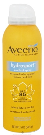 DROPPED: Aveeno - Active Naturals Sunblock Spray Hydrosport 85 SPF - 5 oz. CLEARANCE PRICED