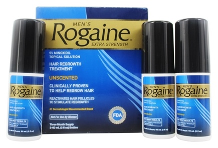 Rogaine - Men's Extra Strength Hair Regrowth Treatment Unscented Three Month Supply - 2 oz.