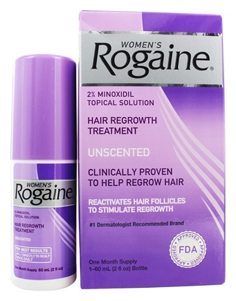 Rogaine - Women's Hair Regrowth Treatment Unscented One Month Supply - 2 oz.