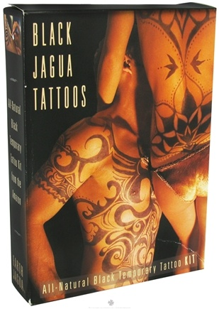 DROPPED: Earth Jagua - Black Temporary Tattoo Kit All Natural - CLEARANCE PRICED