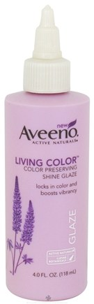 DROPPED: Aveeno - Active Naturals Living Color Shine Glaze Color Preserving - 4 oz. CLEARANCE PRICED