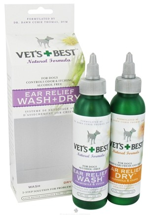 DROPPED: Vet's Best - Ear Relief Wash & Dry - 4 oz. CLEARANCE PRICED