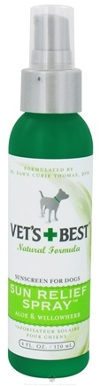 DROPPED: Vet's Best - Sun Relief Spray Sunscreen For Dogs - 4 oz. CLEARANCE PRICED