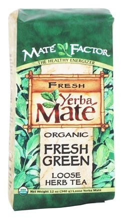 Mate Factor - Organic Yerba Mate Loose Herb Tea Fresh Green - 12 oz.