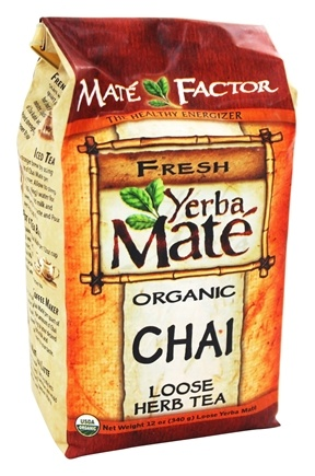 Mate Factor - Organic Yerba Mate Loose Herb Tea Chai - 12 oz.