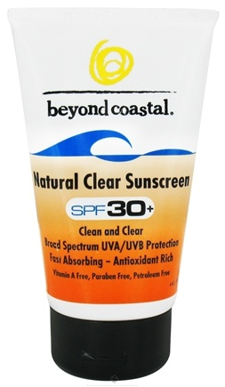 DROPPED: Beyond Coastal - Sunscreen Natural Clear 30 SPF - 4 oz. CLEARANCE PRICED