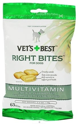 DROPPED: Vet's Best - Right Bites For Dogs Multivitamin - 2.4 oz. CLEARANCE PRICED