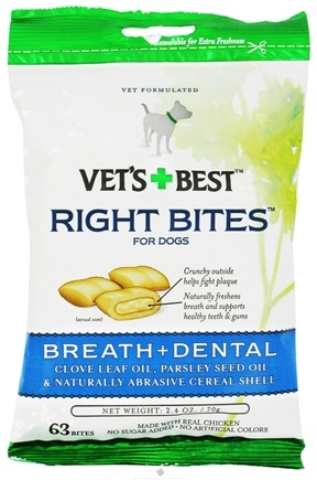 DROPPED: Vet's Best - Right Bites For Dogs Breath + Dental - 2.4 oz. CLEARANCE PRICED