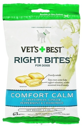 DROPPED: Vet's Best - Right Bites For Dogs Comfort Calm - 2.4 oz. CLEARANCE PRICED