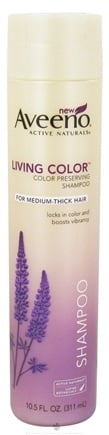DROPPED: Aveeno - Active Naturals Living Color Shampoo Color Preserving For Medium-Thick Hair - 10.5 oz. CLEARANCE PRICED
