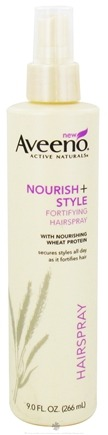 DROPPED: Aveeno - Active Naturals Nourish+Style Fortifying Hairspray with Nourishing Wheat Protein - 9 oz. CLEARANCE PRICED