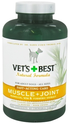 DROPPED: Vet's Best - Fast-Acting Muscle & Joint For Dogs - 60 Chewable Tablets CLEARANCE PRICED
