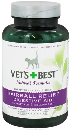 DROPPED: Vet's Best - Hairball Relief Digestive Aid - 60 Chewable Tablets CLEARANCE PRICED