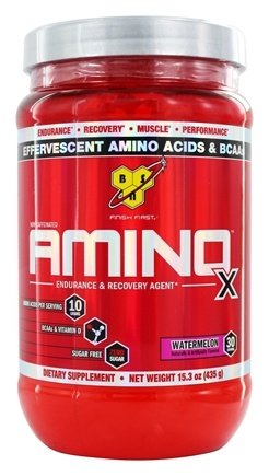 BSN - Amino X BCAA Powder Endurance and Recovery Agent Watermelon - 15.3 oz.