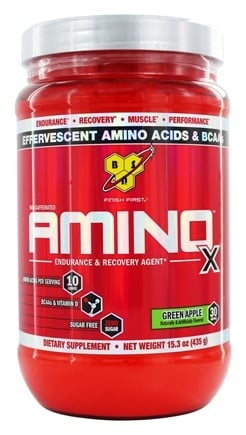 BSN - Amino X BCAA Powder Endurance and Recovery Agent Green Apple - 15.3 oz.