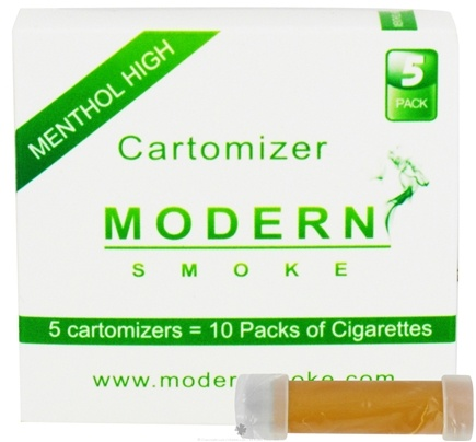 DROPPED: Modern Smoke - Electronic Cigarette Cartomizer Menthol Flavor High Nicotine 16 mg. - 5 Pack(s)