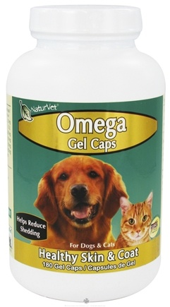 DROPPED: NaturVet - Omega For Pets - 180 Gelcaps CLEARANCE PRICED