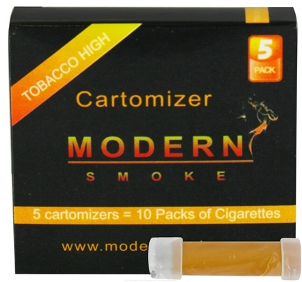 DROPPED: Modern Smoke - Electronic Cigarette Cartomizer Tobacco Flavor High Nicotine 16 mg. - 5 Pack(s) CLEARANCE PRICED