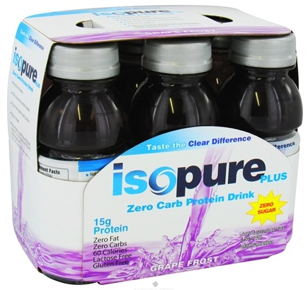 DROPPED: Nature's Best - Isopure Plus Zero Carb Protein Drink Grape Frost - 6 Pack