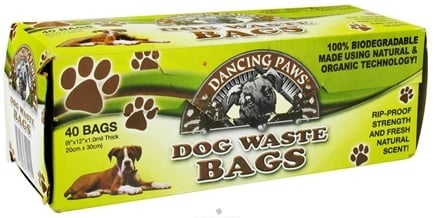 DROPPED: Dancing Paws - Dog Waste Bags - 40 Bags CLEARANCE PRICED