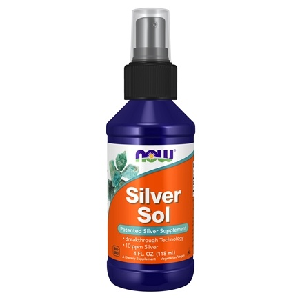 DROPPED: NOW Foods - Silver Sol Patented Silver Supplement 10 Ppm - 4 oz. CLEARANCE PRICED